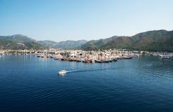 马尔马里斯港,土耳其港  库存照片