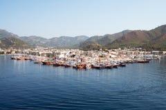 马尔马里斯港,土耳其港  免版税图库摄影