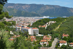 马尔马里斯港,土耳其都市风景  库存照片
