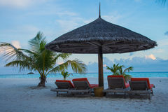 马尔代夫可儿海岛2015年4月 免版税库存照片