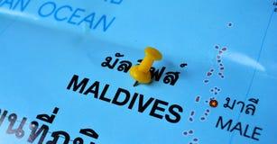 马尔代夫地图 图库摄影