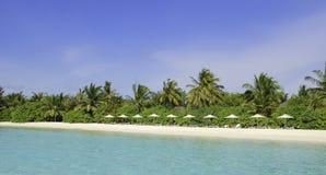 马尔代夫海滩胜地 库存图片