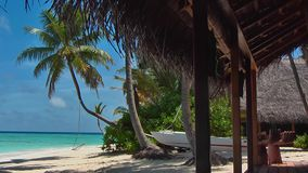 马尔代夫海滩酒吧 影视素材