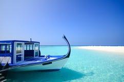 马尔代夫海滩 库存图片