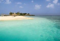 从马尔代夫的一个海岛 库存图片