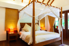 马尔代夫的旅馆客房 免版税图库摄影