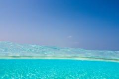 马尔代夫的热带水 免版税库存图片
