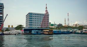 马尔代夫的首都是男性 马尔代夫 印度洋 公开轮渡 免版税库存照片