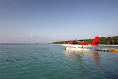 马尔代夫飞机 图库摄影