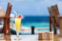 马尔代夫,旅行,假日,鸡尾酒 免版税库存照片