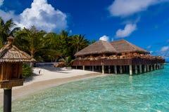 马尔代夫,热带天堂,酒吧 免版税图库摄影