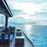 马尔代夫水Café 库存照片