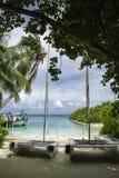 马尔代夫Watersports中心 免版税库存图片