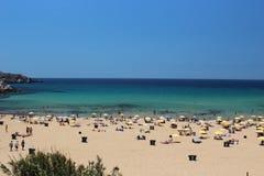 马尔他海滩 免版税库存照片
