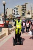 马耳他警察旅游巡逻 免版税库存照片