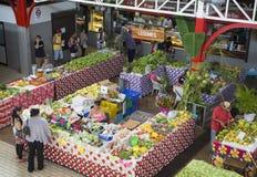 马尔什de Pape'ete (Pape'ete市场), Pape'ete,塔希提岛,法属玻里尼西亚 库存图片