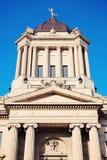 马尼托巴立法大厦在温尼培 免版税库存照片