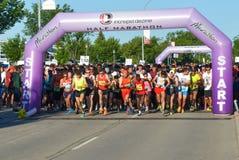 马尼托巴马拉松2015年 库存照片