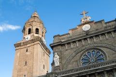 马尼拉圣母无原罪圣殿主教座堂圆顶,王城区,菲律宾 库存照片