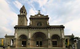 马尼拉大教堂在王城区,菲律宾 免版税库存照片