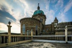 马尼拉大教堂的圆顶,在王城区,马尼拉,发埃 免版税库存照片