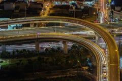 马尼拉市地平线nightview,马尼拉,菲律宾 库存图片