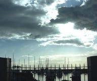马尼拉湾游艇俱乐部 库存图片