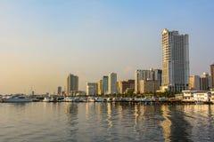 马尼拉,吕宋海岛,菲律宾Cityscapy  库存照片