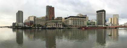 马尼拉,菲律宾全景视图  库存照片
