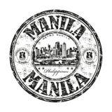 马尼拉grunge不加考虑表赞同的人 库存例证
