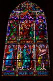 马尼萨莱斯大教堂彩色玻璃  库存图片
