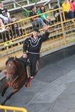 马展示事件在台湾 库存照片