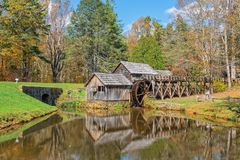 马布里磨房在弗吉尼亚 免版税库存照片