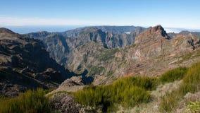 马德拉岛山和峭壁 图库摄影