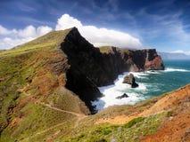 马德拉岛海岛海岸 库存照片
