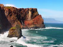 马德拉岛海岛海岸 免版税库存图片