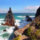 马德拉岛海岛海岸 免版税库存照片