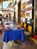 马德拉岛海岛,丰沙尔,老镇 免版税库存照片