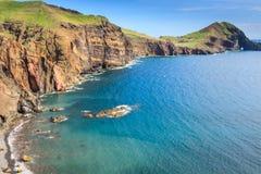 马德拉岛海岛- Ponta de圣洛伦索东海岸  免版税图库摄影