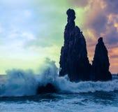 马德拉岛海岸 免版税库存图片