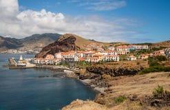 马德拉岛的沿海城市 免版税图库摄影