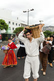 马德拉岛酒节在丰沙尔 免版税库存图片