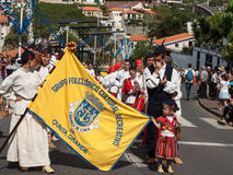 马德拉岛酒节在Estreito de Camara de罗伯斯,马德拉岛,葡萄牙 免版税库存图片