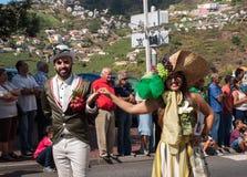 马德拉岛酒节在Estreito de Camara de罗伯斯,马德拉岛,葡萄牙 免版税库存照片