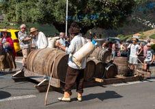 马德拉岛酒节在Estreito de Camara de罗伯斯,马德拉岛,葡萄牙 库存图片