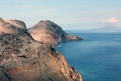 马德拉岛 de lourenco ponta圣地 库存图片