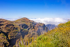 马德拉岛mountainscape 免版税库存图片