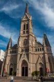 马德普拉塔小,但是美丽的教会,阿根廷 免版税图库摄影