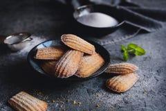 马德琳-传统法国小蛋糕 免版税库存照片