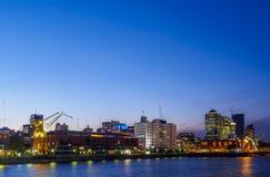 马德罗港在布宜诺斯艾利斯,阿根廷 免版税图库摄影